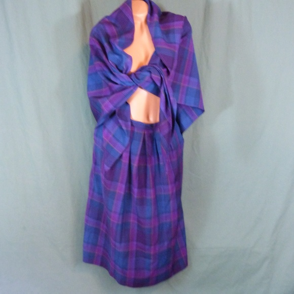 Pendleton Dresses & Skirts - Pendleton Tartan Wool Skirt Scarf Size 12 Plaid